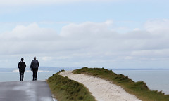 Near the end of the road (Neil Pulling) Tags: uk england island seaside isleofwight walkers englishchannel