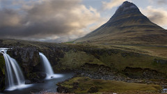 "Whoever ""designed"" Iceland had a lot of fun ;) (lunaryuna) Tags: longexposure mountain beauty season landscape iceland spring le waterfalls lunaryuna kirkjufell lateevening panoramicviews snaefellsnespeninsula beforenightfall westiceland kirkjufellsfoss archaiclandscape"