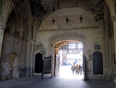 We are Open (innpictime  ) Tags: abbey architecture suffolk arch gates visitors 14thcentury portcullis doorways burystedmunds rebuilt gatehouse 1347 abbeygate religiousinstitution