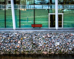Reflections (bjorbrei) Tags: green oslo norway reflections river bench riverside riverbank akerselva grnland vaterland