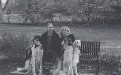 Unusual Family (Proper Photography) Tags: family light blackandwhite dog pet pets silly love dogs nature goofy canon pose outside outdoors happy spring couple natural posed sigma content happiness husband naturallight canine wife joyful familyportrait springtime borzoi 2016 petdog sigma70300 sigmalens russianwolfhound properphotography canoneos7d spring2016