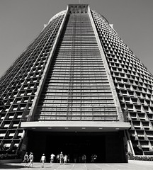 The Pyramid. (Marcos Jerlich) Tags: street brazil urban blackandwhite monochrome riodejaneiro architecture contrast canon cathedral perspective lightroom canon700d canont5i marcosjerlich