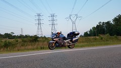 What a beautiful evening to go for a ride. (Me in Va) Tags: cameraphone road sunset tower grass fun freedom evening ride samsung galaxy electricity motorcycle yamaha powerline openroad fjr1300 clearsky s7 hightension powergrid electricalwires powercompany utilitylines gs7 cellphonehdr