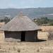 Approaching Butajira - a Gurage style hut