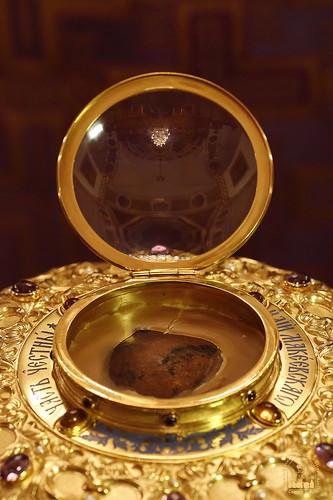 Мощевик с частью честной главы прп. Илии Макеевского