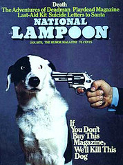 Natlamp73 (sekalovesntn) Tags: national lampoon magazine cover dog gun january 1973