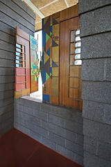 Atrium panel - Harold Price House, Phoenix (Thompson Photography) Tags: arizona phoenix march az franklloydwright architect organicarchitecture 2016 grandmahouse 32216 eugenemasselink haroldpricehouse arizonatrip32116to32516