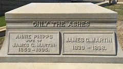 Martin, 1895, 1898, Only in the Ashes (Stewf) Tags: cemetery gravestone lettering sans 1890s mountainviewcemetery attachedletters