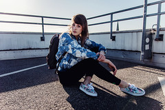 (getbehindme // alinekoehler.de) Tags: street city sunset summer portrait urban woman selfportrait rooftop fashion female canon germany photography abend model sonnenuntergang sommer parking lot sigma style brunswick jeans editorial denim vans tiedye hm mode parkplatz dach braunschweig parkhaus selfie eastpak 70d cheapmonday ootd sigma1750mmf28exdcoshsm