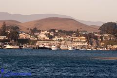 Morro Bay at Sunset (Legal Eagle Photo) Tags: ocean california sunset sea home water port landscape bay harbor seaside fishing village scenic shore vista fleet quaint morro