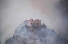 The saddest day #1 (Emily's mind) Tags: mountain fire smoke montagna incendio fuoco fumo criminality montepellegrino criminalit castelloutveggio utveggiocastle