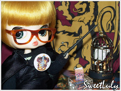 Joanne Kathleen  Byul Eris (SweetLuly) Tags: glasses miniature dolls harrypotter groove joanne miniatura gryffindor rewigged byul grifinria harrypottereapedrafilosofal formydoll byuleris