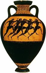 Attic Black-figure Panathenaic neck amphora, Greece c. 530 BCE (mike catalonian) Tags: ceramics amphora ancientgreece 530bce vicenturybce