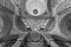- Mosque Look UP - (Mr. LookUP) Tags: urban bw favorite building architecture canon blackwhite globe shot columns wideangle indoor mosque lookup 1022mm 2016 blackandwithe 60d