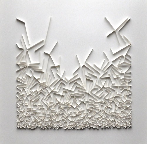 herman coppus papierreliëf100x100cm