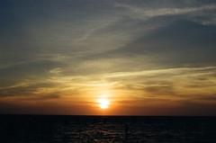 Salty Egg Yolk (klolam) Tags: sunset film nature beauty 35mm iso200 colours kodak horizon taiwan wetlands analogue kodakfilm gao gaomei  kodakcolorplus