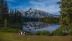 2  jack lake (Robert Ron Grove 2) Tags: mountain lake canada landscape banff rundle robertgrove