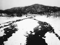 On the Train to Takayama 11 (Jon-F, themachine) Tags: winter blackandwhite bw snow monochrome japan asian asia olympus monochromatic  nippon japo grayscale oriental orient fareast  gifu   bnw nihon omd japn 2016  nocolor m43  mft   mirrorless   micro43 microfourthirds  ft xapn jonfu  mirrorlesscamera snapseed   em5ii em5markii  giftken
