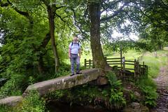 Clam Bridge (Tony Shertila) Tags: park bridge portrait england tree nature standing river person ancient europe britain outdoor historic lancashire wycoller clambridge 20160618112550