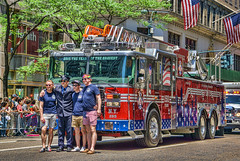 New York's Bravest (JMS2) Tags: red newyork march manhattan sony engine fifthavenue fdny firefighters bravest truckfiretruck prideparade2016