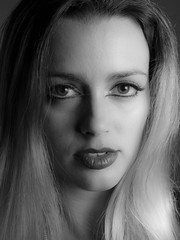 Michael Porter (jerseytom55) Tags: portrait blackandwhite beauty lips blond beautifulwoman priolite 645z pentax645z