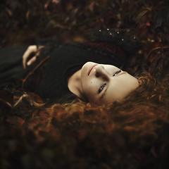 eternal dawn... (martikson) Tags: light portrait nature girl beauty face dark hair dawn flora eternal martikson themonalisasmile eibleann