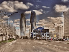 Absolutely One (Paul B0udreau) Tags: road city sky toronto ontario canada building tower cars window car architecture clouds photomanipulation samsung structure master layer mississauga hdr picnik netart hypothetical photomatix vividimagination cityarchitecture tonemapping artdigital shockofthenew stickybeak sharingart maxfudge awardtree samsungmaster fujifilmfinepixs1500 trolledproud trollieexcellence exoticimage atfpchallengewinner paulboudreauphotography netartii ~imaginethat~ shockofthenewpremiereaward