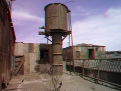 Abandoned nitrate town Humberstone, Chile, 3D photo (anaglyph) (Stereomania) Tags: chile abandoned ex peru america lost town stereoscopic stereophoto stereophotography 3d chili industrial decay south anaglyph stereo atacama works stereoview former humberstone officina iquique nitrate saltpeter