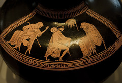 Warrior's farewell (Egisto Sani) Tags: ceramica berlin museum ceramic greek attic pottery museo greca berlino redfigure antikensammlungen vasigreci