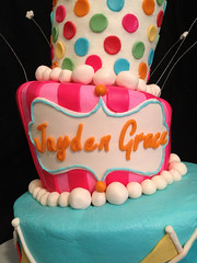 "topsy turvy circus cake • <a style=""font-size:0.8em;"" href=""http://www.flickr.com/photos/60584691@N02/7021475765/"" target=""_blank"">View on Flickr</a>"