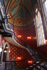 Saint Pancras Renaissance Hotel-London (R. O. Flinn) Tags: england london stairs hotel gothic gilbertscott gothicrevival saintpancras