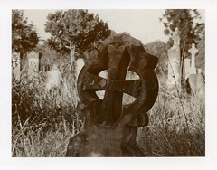POLAROID (Eva Flaskas) Tags: film monument cemetery grave sepia project lens polaroid sydney instant peel expired necropolis impossible apart rookwood 600se 150mm impossible