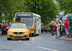 Convoy arrives in Burrelton (P&KC Archive) Tags: sport photography scotland community perthshire streetscene celebration 20thcentury relay olympicflame torchrelay localhistory olympictorch torchbearers historicevent civicpride perthandkinross ecsochistory recordinghistory