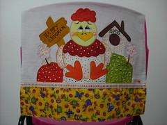 Pano de prato Galinha tranquila (Pintura em tecido. Panos de prato.) Tags: galinha galinhas pinturacountry panosdeprato panodecopa