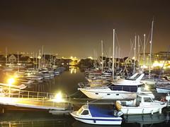 Port Solent Nights  (Shutter Chimp: Im back!) Tags: light sea england house reflection night port boat dock solent portsmouth mast