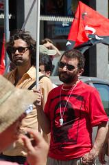 Manifestazione San Raffaele -2- (-Siby-) Tags: portrait flag tshirt rsu precari demostration laborunion bandiera usi manifestazione ernestocheguevara maglietta cgl cisl sindacato ospedalesanraffaele