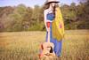 Rachel Before Sunset (Proleshi) Tags: music woman girl field 50mm golden rachel model bokeh guitar song ambientlight guitarra naturallight hour maiden eveninglight bluedress enchanting d300s 50mm14afs sunlightthroughhair proleshi jamaljosephs