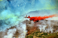 Bomber Dropping retardant on Alpine Fire (houstonryan) Tags: 3 news fire utah fighter ryan july houston alpine planes fighters firefighting bomber firefighters 2012 dropping retardant houstonryan