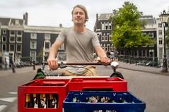 Cafe Brecht beer bakfiets brug (@WorkCycles) Tags: beer amsterdam tom bier crates bakfiets kratten bakfietsen workcycles resink
