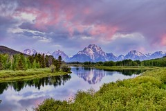 Early Morning at Oxbow Bend (Jeremy Duguid) Tags: park trees sky mountains west reflection colors clouds sunrise canon rockies colours hole bend grand jeremy jackson mount national wyoming teton tetons moran 1000 oxbow duguid 50d tpslandscape jeremyduguid