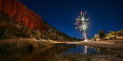 The Still of the Night (southern_skies) Tags: night river stars fireworks northernterritory finkeriver