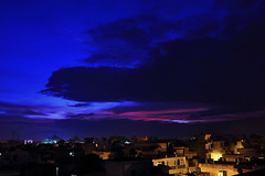 Monsoon Sunset!! (Parveen Singh) Tags: blue sunset sky people home beautiful night clouds canon dark season lights big darkness wind cloudy happiness rainy monsoon smell 1855mm 550d