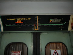 TTC Subway Route Map, circa 1975-1977 (Sean_Marshall) Tags: toronto ontario museum subway map ttc milton haltoncountyradialrailway
