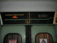 TTC Subway Route Map, circa 1975-1977 (Sean_Marshall) Tags: toronto ontario museum subway map ttc milton haltoncountyradialrailway