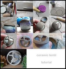 ceramic lentil tutorial (AleksandraMicic) Tags: inspiration art ceramic beads handmade jewelry images photographs howto tutorial pendant lentil earthclay micicart aleksandramicic