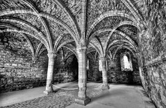 The Chapter House (Mike Dorey) Tags: uk light england blackandwhite bw house black english heritage abbey architecture high lowlight nikon dynamic angle britain decay wide sigma historic range hdr brittish d90 englishness