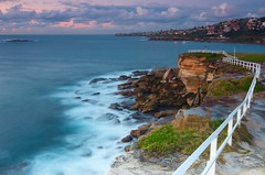 A walk along the edge (Andr Distel Photography) Tags: longexposure seascape beach water clouds sunrise fence landscape dawn sydney australia filter nsw nd andr hitech coogee vanguard distel coogeebeach landscapephotography gnd ndw 3stop fineartprints landscapeaustralia induro landscapebeach andrdistel sbh250