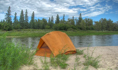 I had to spend a night here... (westrock-bob) Tags: trip blue camping trees red camp sky canada water canon river sand bob ab tent canoe deer alberta allrightsreserved kanada kanata cuthill s5is canons5is westrockbob bobcuthillphotographygmailcom mygearandme bobcuthill bobcuthillphotography