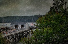 During The Storm (jade2k) Tags: storm texture rain clouds boats pier maine thegalaxy mygearandme ringexcellence dblringexcellence rememberthatmomentlevel1