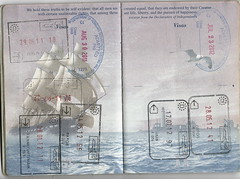Passport: EU/US Entry and Exit Stamps (Taylor Mc) Tags: brussels usa berlin philadelphia germany washington dulles belgium frankfurt main cyprus stamp exit passport entry paphos hahn pafos schnefeld